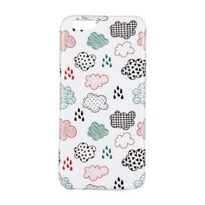 For iPhone 7 Plus Clouds Pattern IMD Dropproof Protective Back Cover Case