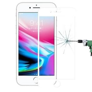 For iPhone 8 0.3mm 9H Surface Hardness 4D Curved Full Screen Tempered Glass Screen Protector (White)