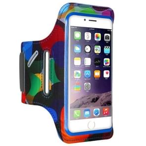 FLOVEME Printed Universal Smart Touch Telephone Armband Case, For  iPhone 8 & 7 & 6s & 6(Blue)