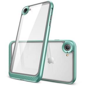 ESR Bumper Hoop Lite Series PC + TPU Solid Frame Transparent Case for iPhone 8 / 7(Mint Green)