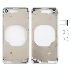 Transparante achterkant met cameralens & simkaartlade & zijsleutels voor iPhone 8 (Wit)