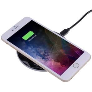 DC5V Input Diamond Qi standaard snel opladen draadloze lader  kabel lengte: 1m  voor iPhone X & 8 & 8 Plus  Galaxy S8 & S8 PLUS  Huawei  Xiaomi  LG  Nokia  Google en andere slimme Phones(Black)