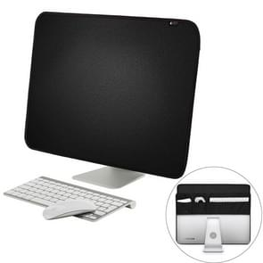 For 21 inch Apple iMac Portable Dustproof Cover Desktop Apple Computer LCD Monitor Cover with Storage Bag  Size: 54.5x38.1cm(Black)