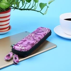 Voor Apple Pencil / iPad Pro potlood draagbare anti-verloren opslag zak TouchPen lederen rits beschermende Box(Purple)