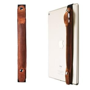 Voor Apple Pencil beschermende Band elastisch Retro PU leder Pouch anti-verloren Cover(Coffee)