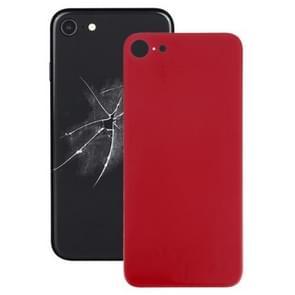 Eenvoudige vervanging Big Camera Hole Glazen Achterkant batterijhoes met lijm voor iPhone 8 (Rood)