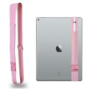 Voor Apple Pencil / 12 9 inch iPad algemene hoge elastische Band Apple potlood Band beschermende Bag(Pink)