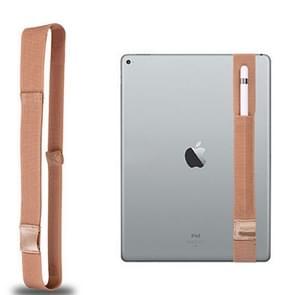 Voor Apple Pencil / 12 9 inch iPad algemene hoge elastische Band Apple potlood Band beschermende Bag(Gold)