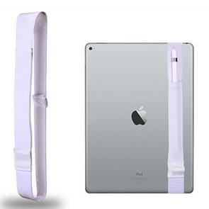 Voor Apple Pencil / 12 9 inch iPad algemene hoge elastische Band Apple potlood Band beschermende Bag(White)