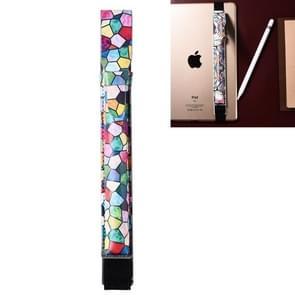 Voor Apple Pencil creatieve Fashion afgedrukt geometrische patroon beschermende Band elastisch PU leder Apple Pencil anti-verloren beschermhoes