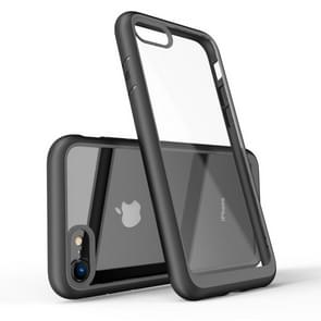 Two-color Frame Acrylic PC Case for iPhone 7(Black)