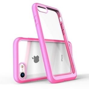 Two-color Frame Acrylic PC Case for iPhone 7 (Pink)