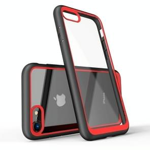 Two-color Frame Acrylic PC Case for iPhone 7 (Red)