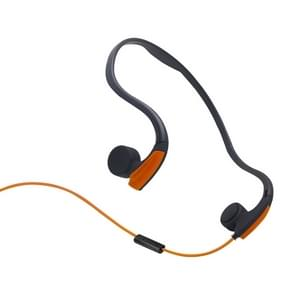 Achter opknoping Wire-Controlled Bone geleiding outdoor sport hoofdtelefoon (oranje)