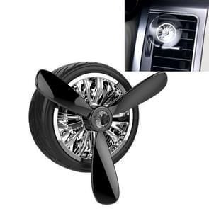 Universal Car Air Vent Clamp Wheel Shaped Perfume Fragrance Diffuser Air Freshener(Black)