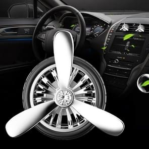 Universal Car Air Vent Clamp Wheel Shaped Perfume Fragrance Diffuser Air Freshener(Silver)