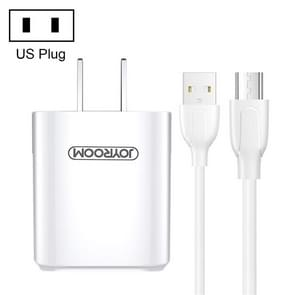 JOYROOM L-M226 2.4A Dual USB Travel Wall Charger Power Plug Adapter, with Micro Cable, US Plug(White)