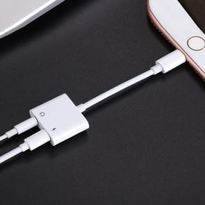 JOYROOM S-M403 ben Series Apple 3.5 + Lightning adapter  lengte: 1 2 m (wit)
