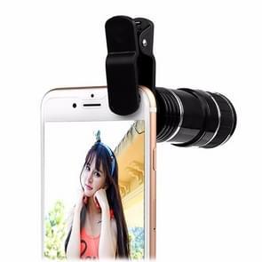 Universele mobiele telefoon 12X zoom optische zoom telescoop lens met clip