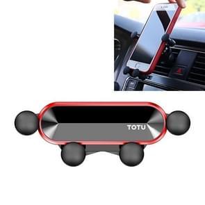 TOTUDESIGN DCTV-15 keeper serie auto mount telefoon zwaartekracht houder stand (rood)