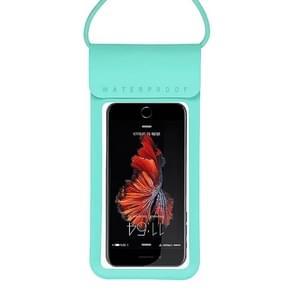 Outdoor duiken zwemmen mobiele telefoon touch screen waterdichte tas voor onder 5 inch mobiele telefoon (blauw)