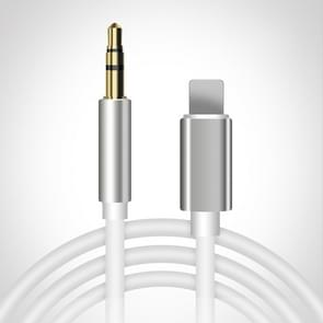 8 Pin tot 3 5 mm AUX Audio Adapter Cable  Lengte: 1m (wit)