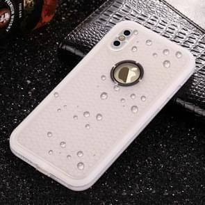 For   iPhone X / XS   Water Resistant TPU + PC Full Coverage Protective Back Cover Case(Transparent)