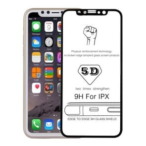 For iPhone X / XS 0.3mm 9H Surface Hardness 5D Curved Full Screen Tempered Glass Screen Protector(Black)