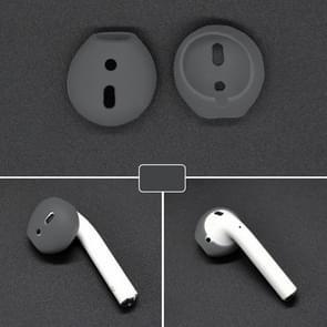 2 stks oortelefoon silicone ear caps Earpads voor Apple AirPods/EarPods (grijs)