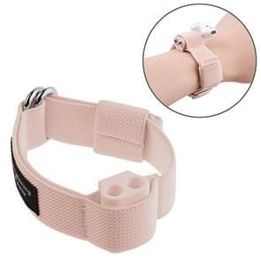 Outdoor sport anti-verloren draadloze koptelefoon houder Case opslag rack polsband riem voor Apple AirPods 1/2 (roze)