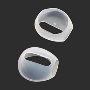 1 Pair Wireless Bluetooth Earphone Silicone Ear Caps Earpads for Apple AirPods(Transparent)