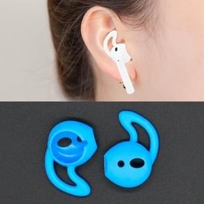 Draadloze Bluetooth oortelefoon silicone ear caps Earpads voor Apple AirPods (blauw)