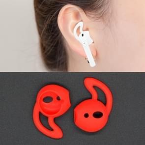 Draadloze Bluetooth oortelefoon silicone ear caps Earpads voor Apple AirPods (rood)