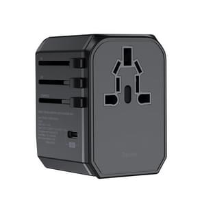 Benks PA36 30W multifunctionele World Travel Adapter snellader met 4 internationale stekker & 2xUSB-poort & type-C-poort