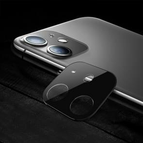 Titanium Alloy Camera Lens Protector Tempered Glass Film for iPhone 11 (Black)