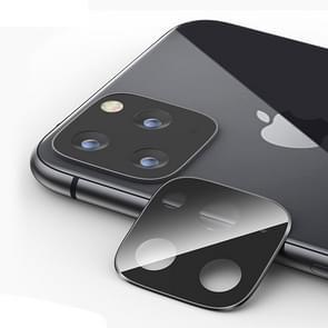 Titanium legering camera lens beschermer gehard glas film voor iPhone 11 Pro/11 Pro Max (zwart)