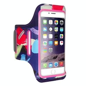 FLOVEME Printed Universal Smart Touch Telephone Armband Case, For iPhone 8 Plus & 7 Plus & 6s Plus & 6 Plus(Pink)