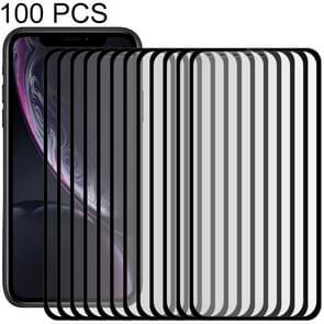 100 stuks 9H 10D volledige scherm gehard glas Screen Protector voor iPhone XR