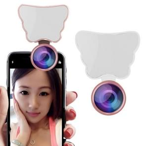 RK28 Multi-function Beauty Selfie Light LED Selfie Clip Flash Fill Light with HD 4K Wide / 50X HD Macro Lens (White)