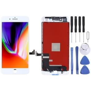 Original LCD Screen and Digitizer Full Assembly for iPhone 8 Plus(White)