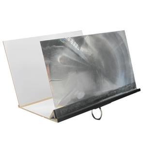 8 inch 3D Wood Grain Acrylic Folding Mobile Phone Screen Video Amplifier Desktop Stand(Black)