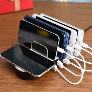 JHW08 Desktop 4-poorts USB Gratis Dock Wireless laadstation met LED-Indicator  voor de iPad  Laptop  iPhone  Samsung  HTC  Huawei  Xiaomi en andere Smart Phones