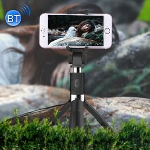 2 in 1 Foldable Bluetooth Shutter Remote Selfie Stick Tripod for iPhone and Android Phones(Black)