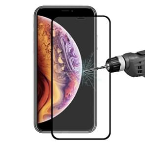 ENKAY Hat-Prince 0.2mm 9H 2.5D Full Screen Tempered Glass Film for iPhone XS Max(Black)