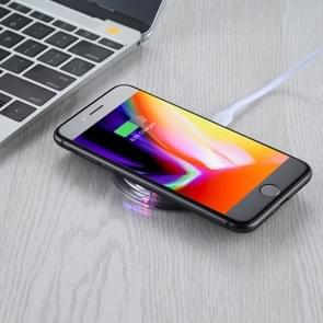 FANTASIE 5V 1A uitgang Qi standaard Ultra-thin draadloze oplader met opladen Indicator  steun QI standaard telefoons voor iPhone  Galaxy  Huawei  Xiaomi  LG  HTC en andere QI standaard Smart Phones (zwart)