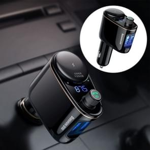 Baseus Car Wireless Bluetooth V4.2 FM Transmitter MP3 Player 3.4A Dual USB Car Charger, Support U-disk & Hand-Free Calling(Black)