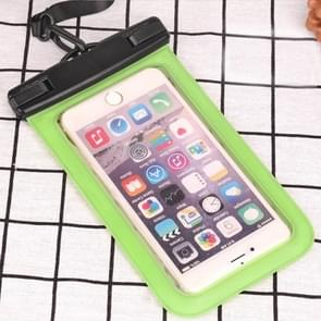PVC transparante universele IPX8 waterdichte tas met Lanyard voor smartphones onder 6,3 inch (groen)