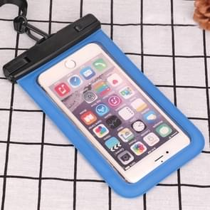 PVC Transparent Universal IPX8 Waterproof Bag with Lanyard for Smart Phones below 6.3 inch (Blue)