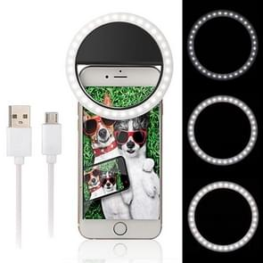 Android Charging Interface Mobile Phone Beauty LED Self-timer Fill Light(Black)