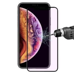 ENKAY Hat-Prince 0.2mm 9H 3D Anti Blue-ray Full Screen Carbon Fiber Tempered Glass Film for iPhone 11 / XR(Black)